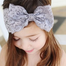 Lovely Newborn Lace Bow Knot Elastic Headband Kids Lace Flower Hair Band Hair Accessories