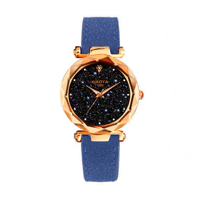 Exquisite Ladies Watch Multicolor Starry Sky Female Leather Quartz Wrist Watch Elegant Women Watches Bracelet Watch Montre Femme