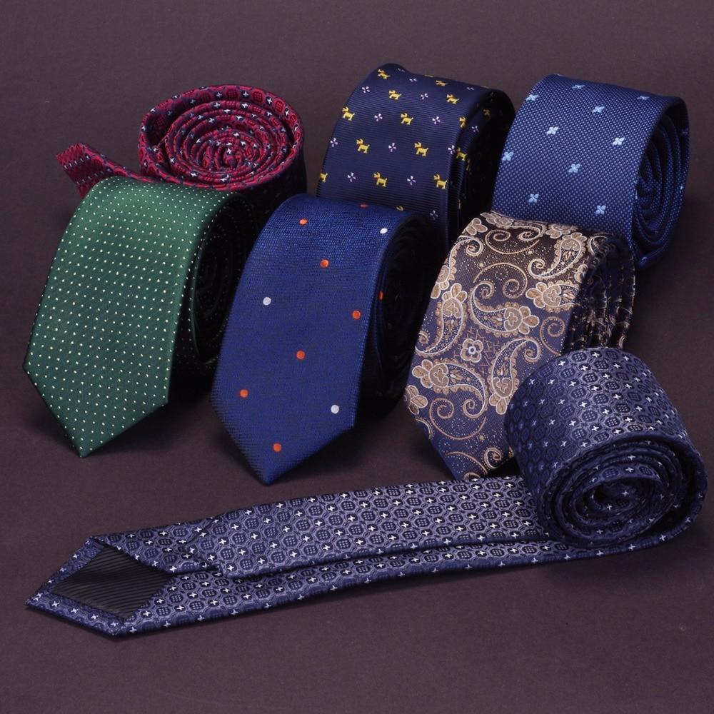 JEMYGINS Quality Slim Tie Mens 6cm Necktie business Red Green wedding tie gift g