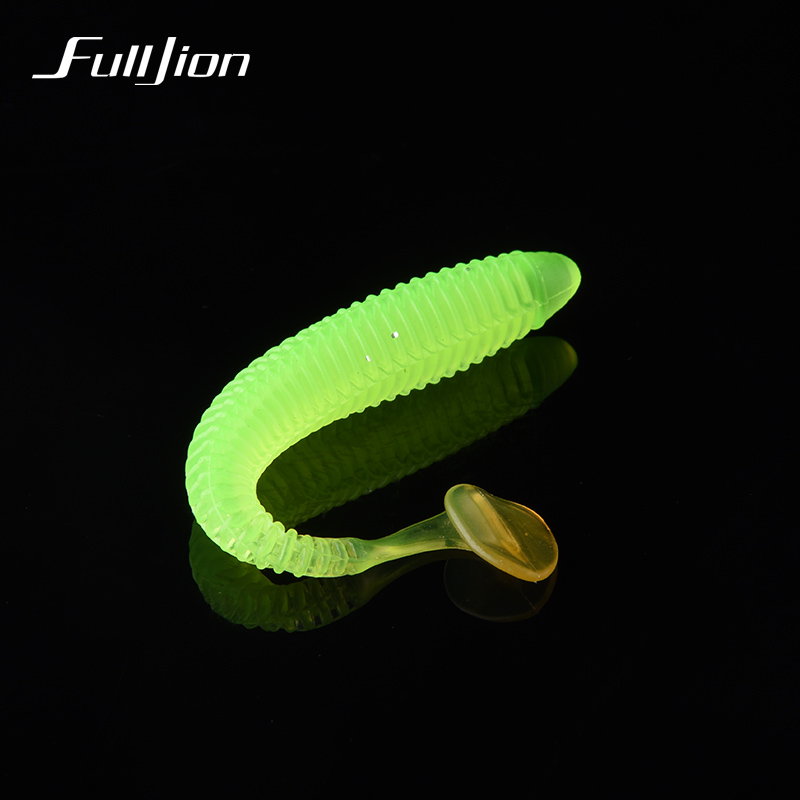 Fishing Lures Silicone Worm Luminous Soft Bait Bass Lures With Salt Smell Fishing Tackle Lure Artificial  8.5cm 2.4g 10pcs/lot 10pcs lot 7 5cm 2g soft bait worm swimbaits fishing lure fly fishing bait artificial 8 color silicone t tail lure fa 397