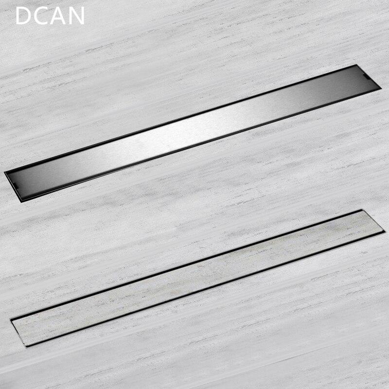 DCAN Linéaire Canal drain de plancher Porte 60 cm 80 cm 100 cm 120 cm SUS304 acier inoxydable Désodorisation Type Long De Douche drain de plancher