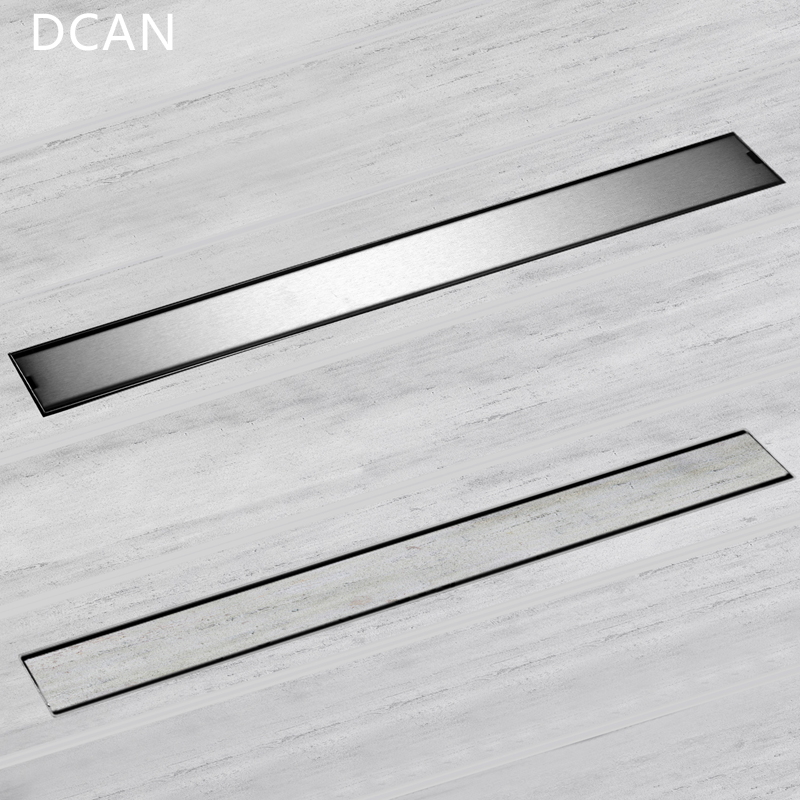 DCAN Linear ChannelFloor Drain Gate 60cm 80cm 100cm 120cm SUS304 Stainless Steel Deodorization Type Long Shower Floor Drain