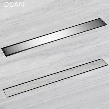 DCAN kanał liniowy brama spustowa 60cm 80cm 100cm 120cm SUS304 typ dezodoryzacji ze stali nierdzewnej boczny odpływ podłogowy tanie i dobre opinie Kanalizacji STAINLESS STEEL Podłogi Samo-warstwa side-odpływ odpływ podłogowy Innych SQUARE UB-DL060-120 Szczotkowane
