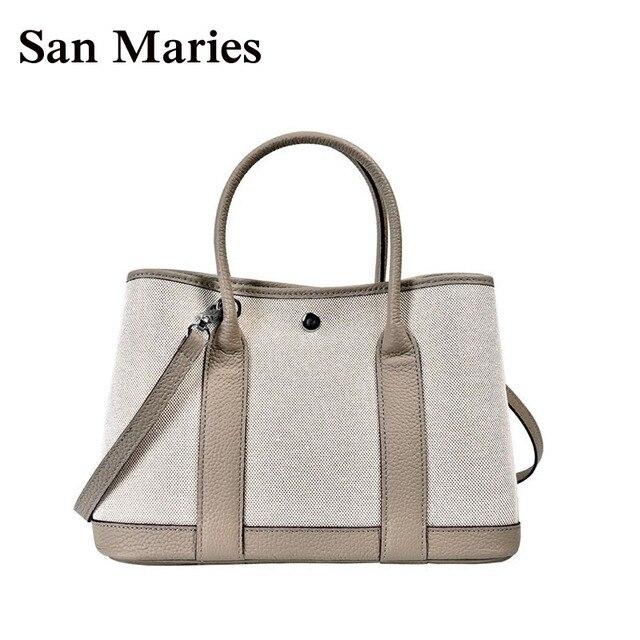 fcbd61d8dd572 San Maries Designer Handtaschen Hohe Qualität Frauen Berühmte Marke Stil  Leinwand + Leder Messenger Taschen Neue Luxus Handtasche 2 Größen tote