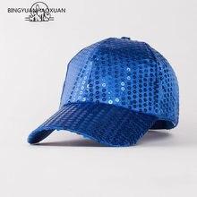 2f4d0f1284ed7 BINGYUANHAOXUAN Fashion Fancy Funny Shiny Baseball Hip Hop Hat Glitter  Glitter Dance Party Snapback Caps(