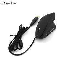 5th-Gen Wired Vertical Mouse Ergonomic LED Backlit Light 3200DPI Wrist Rest Protect Game Mice For Computer PC Laptop цена и фото