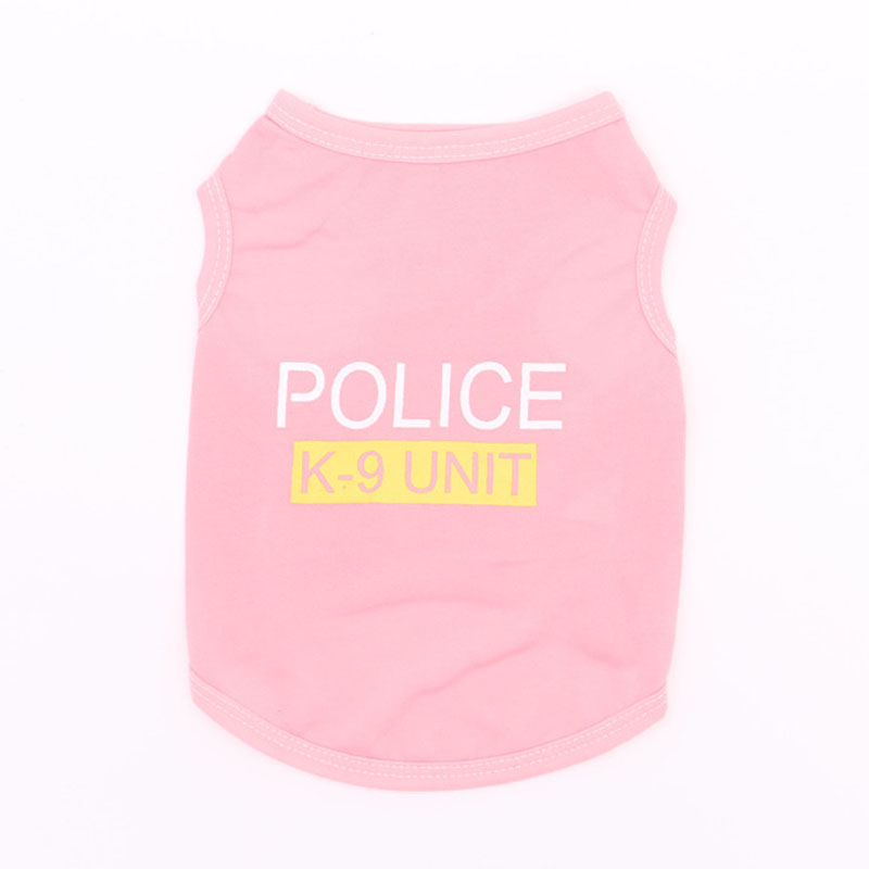 Cute Little Puppy Police Vest T-Shirt Summer Pet Costume Polyester Small Dog Cat Clothes Super Breathable Puppy Poodle Apparel9