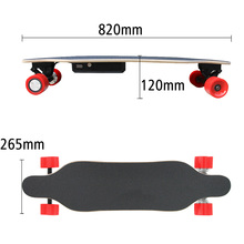 Electric Skateboard With Dual Brushless 70mm Hub Motor With Remote Controller Distance 14M Electric Longboard Hoverboard