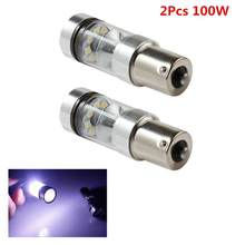Bombilla LED de respaldo para coche, luz de marcha atrás, XBD 100W 1156 S25 P21W BA15S, 2 uds.