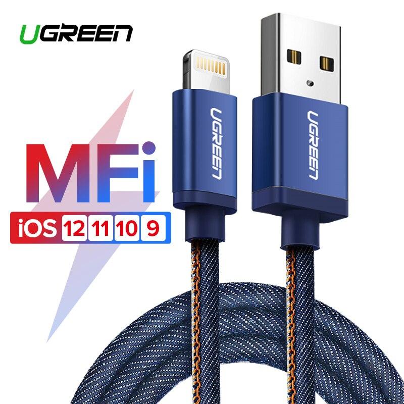 Ugreen MFi Cabo USB Relâmpago para o iphone X XS Max XR 2.4A Rápido Cabo de Carregamento de Dados para iPhone 8 7 6 6 s Plus Cabo de Telefone Móvel