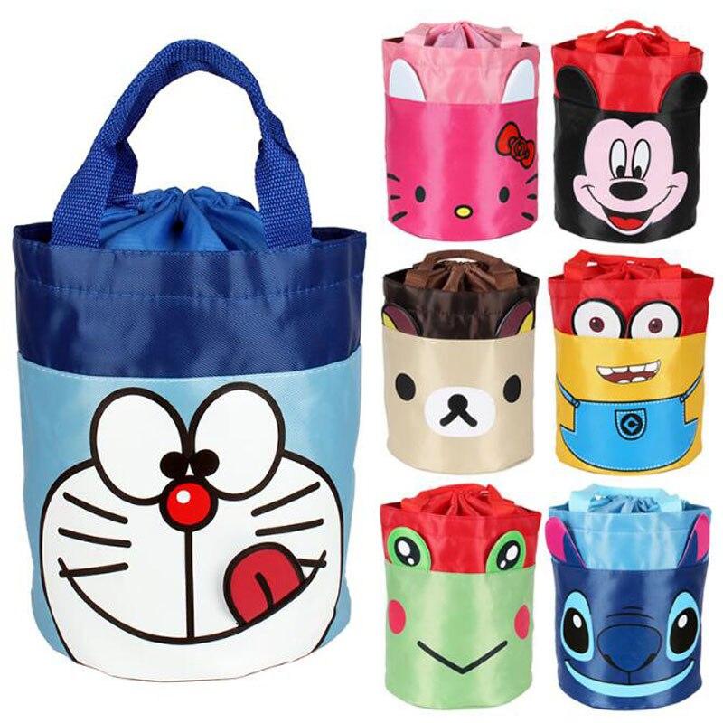 Мультфильм привет и котенок Портативный Водонепроницаемый контейнер для хранения сумка для переноски органайзер для Открытый Отдых Коробки для обедов сумка для пикника