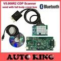 2 Шт./лот + DHL БЕСПЛАТНО для wo CDP с Bluetooth v5.008r2 программного обеспечения + keygen TCS CDP pro obd2 автомобили грузовики диагностический инструмент в на складе