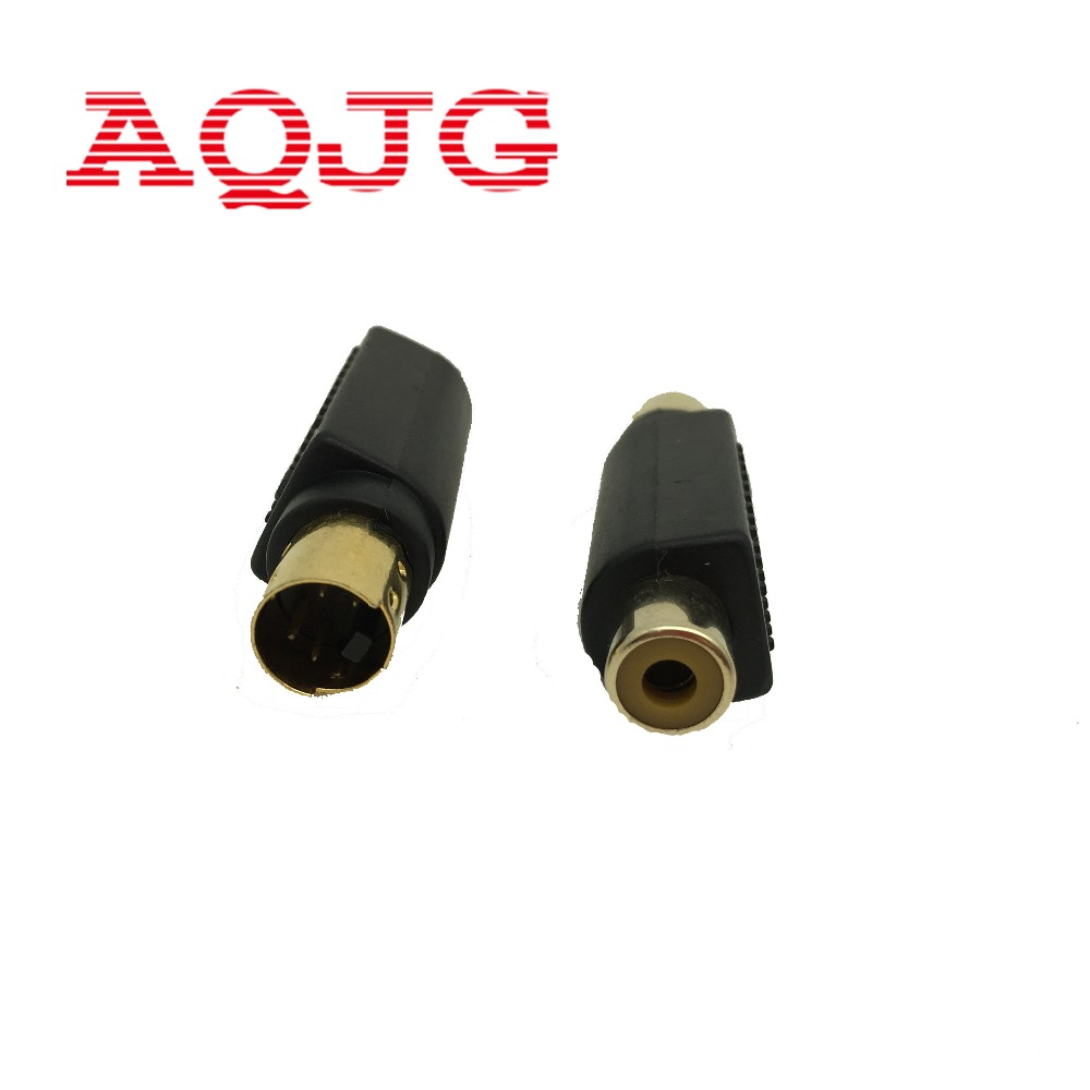 High Quality Brand New RCA Female Composite to S-Video svideo Male Adapter Adaptor Converter Connector 5PCS s video male to rca female video adapter