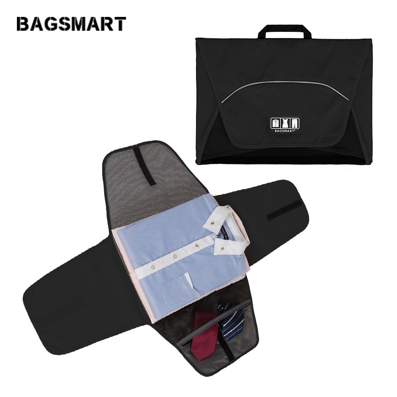 "BAGSMART 17 ""Folder Pakaian Wanita Lelaki Anti-kedutan T Shirts Ties Packing Bags Travel Accessories Bag dan Luggage Packing Cube"