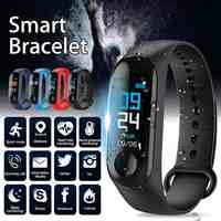 M3 Sport Smart Watch Heart Rate Monitor Fitness Tracker Bracelet Smartwatch Color Screen Blood Pressure Pedomater Wristband