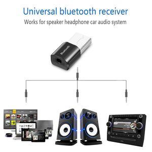 Image 4 - ミニ Bluetooth オーディオ AUX カーレシーバーアダプタ 3.5 ミリメートルワイヤレスポータブルスピーカー音楽受容 Usb スピーカーヘッドセットレシーバー