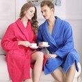 100% Algodón Terry Albornoz Larga Unisex Hombres de Las Mujeres Toalla de Baño Robe Femme Bata Kimono Robes Amantes ropa de Noche de dama de Honor