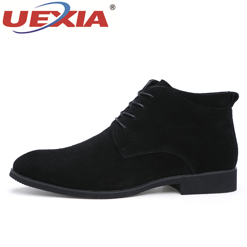 Uexia Fourrure Peluche Casual De Chaud Bottes Hiver Fur Fur Au D'affaires Mâle Chaussures Mode Fur Hommes Courte Fur Garder brown gray Designer No Robe Black black OqwxvnO7pr