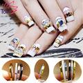 Top Nail 8 Rolls/Lot 2mm & 3mm Width 3D Nail Art Tips Striping Tapes Foil Line Beauty Stickers For Nails Decal Decorations JH181