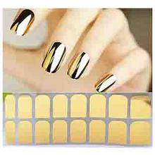 M8601 2015 New hot Fashion Smooth Gold Foil Armour Nail Sticker Art Decoration Sticker Patch Wraps