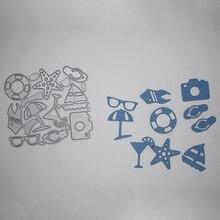 Beach essential Metal Cutting Dies  Scrapbooking Album Decoration Embossing Paper Card Craft 79*88 mm