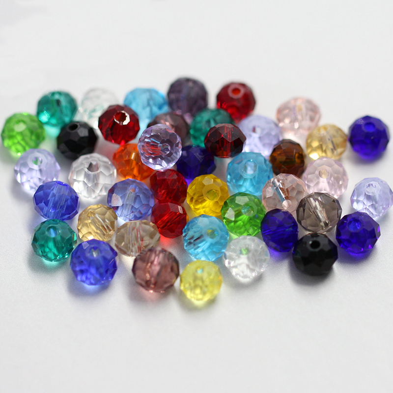 wholesale 4-8mm clear faceted glass round beads Rondelle crystal Austria beads for bracelet