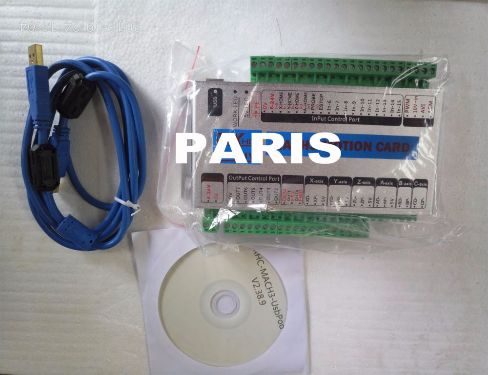 4 axes USB mach3 MK4-IV CNC contrôleur Support Windows 7 pour CNC gravure moulin