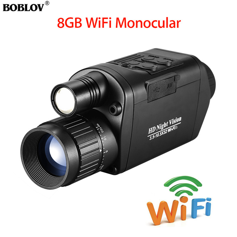 BOBLOV Outdoor Monoculars Telescope Binoculars Hunting WiFi Digital Vision Night 3.5-10.5 x 32 HD Infrared Monocular