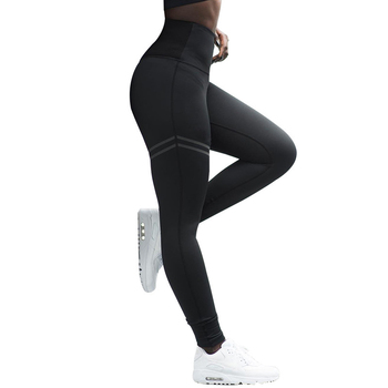 Workout High Waist Leggings Black Push Up