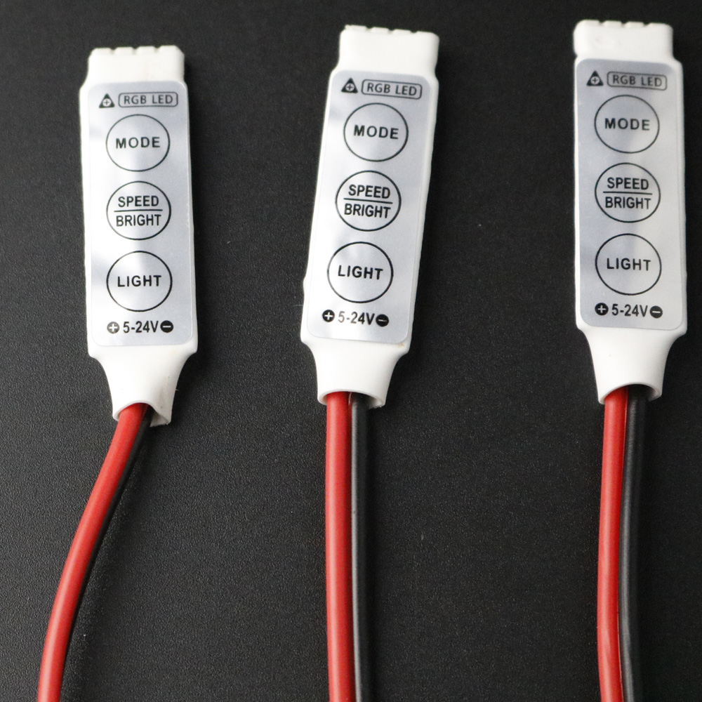 Controlador LED de 12V Mini 3 teclas de un solo Color RGB regulador de brillo para led 3528 5050 tira de luz libre shipp venta al por mayor 1 Uds DJ