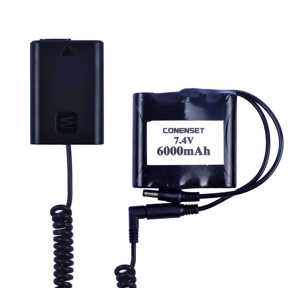 AC-PW20E AC الطاقة محول لسوني DSC-RX10M2 RX10M3 RX10M4 ILCE-QX1L NEX-3N 5N 5R 5T 6 7 C3F3 كاميرا NP-FW50 الدمية البطارية
