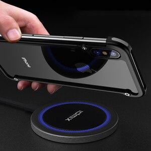 Image 4 - Original Oatsbasf aluminium métal pare chocs étui pour iphone X XS XS MAX XR luxe dur antichoc goutte Protection étui pour iphone 11