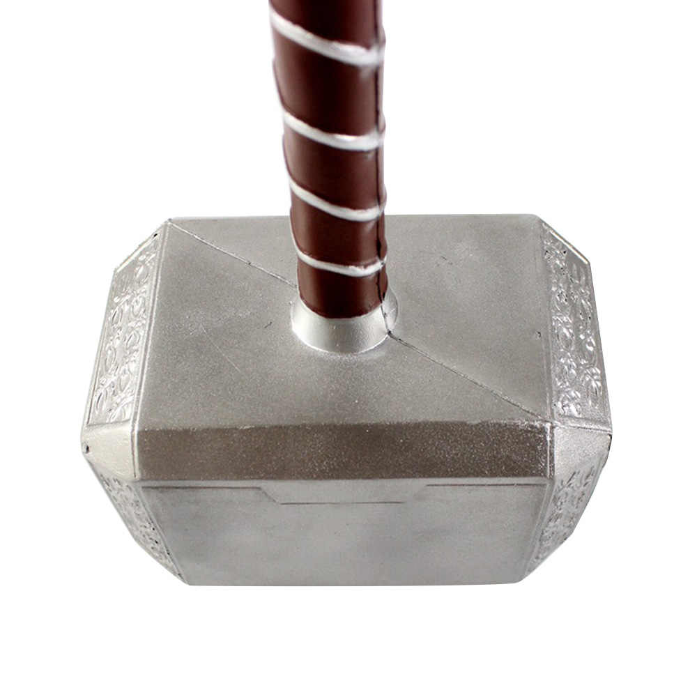 Superhero 1:1 Thor Hammer Mjolnir Replica PU Weapon Toy Model For Adults Halloween Collection Party Cosplay Props Performance