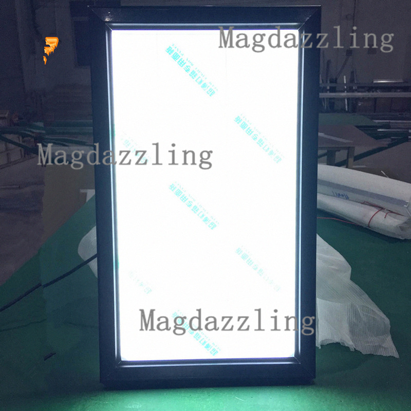 60x80CM Slim Black Aluminum Snap Frame LED Illuminated Menu boards ...