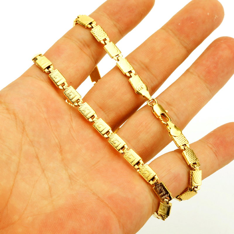 JHplated  Length 45CM Gold Color Necklaces for Women/Men,African Ethiopian Chain Necklaces Arab Gifts