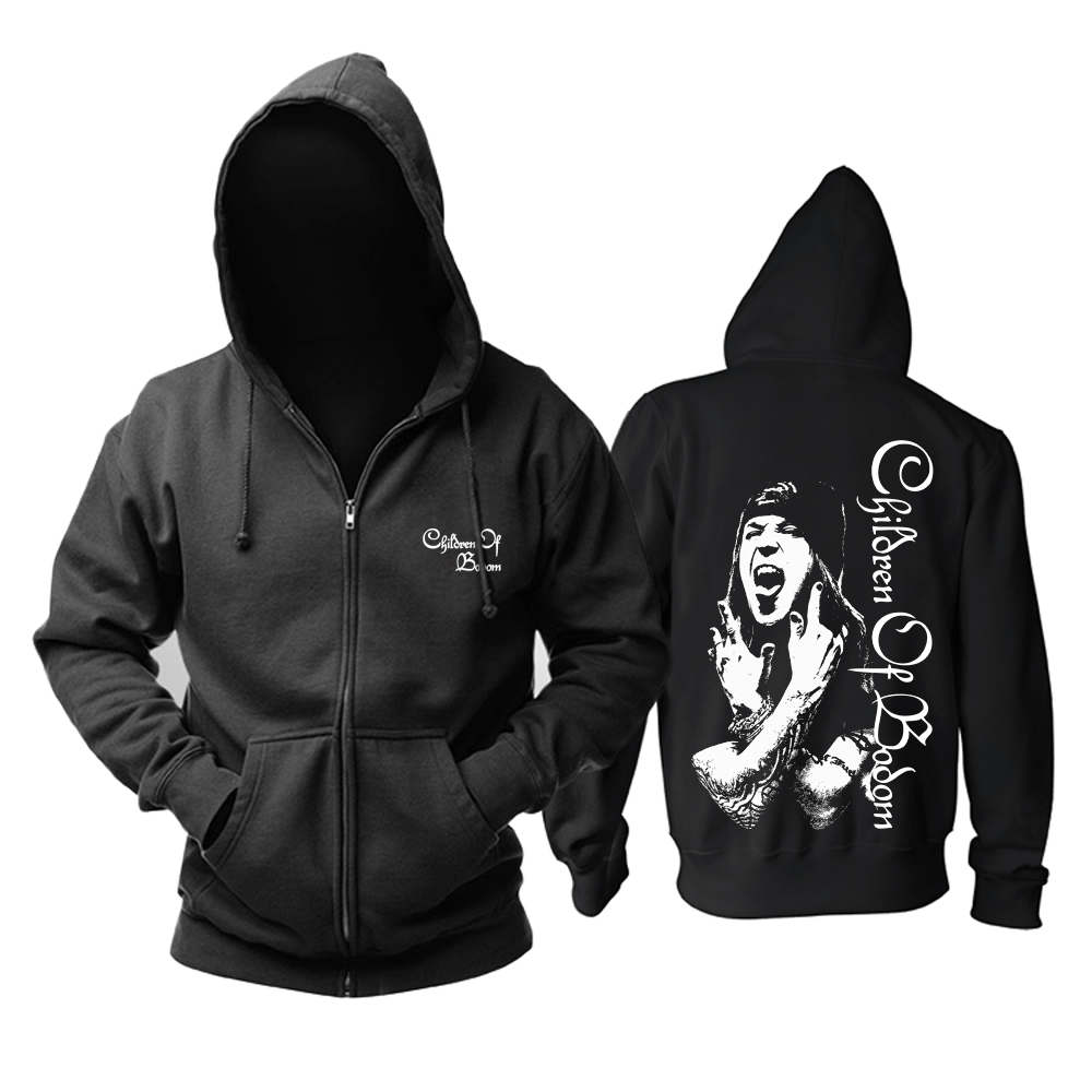 Bloodhoof Eminem Hardcore Hip Hop Black Fashion Zipper Hoodie Asian Size