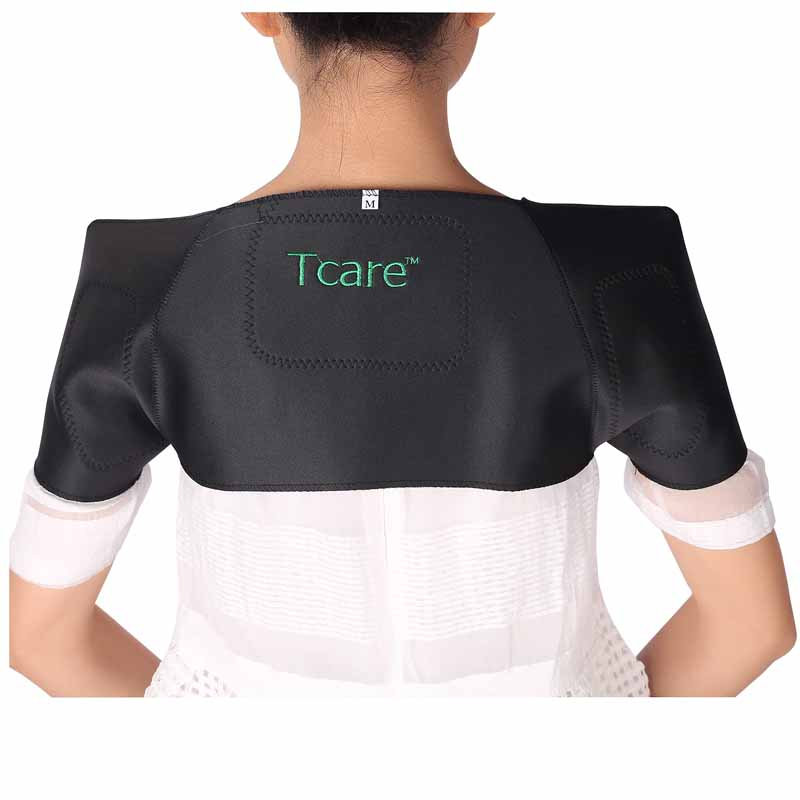 1 Pcs Tcare Self-heating Tourmaline Shoulder Brace Support Pain Relief Magnetic Therapy Tourmaline Braces Health Products 1 pcs tourmaline self heating health care pain relief shoulder brace support magnetic therapy tourmaline belt braces