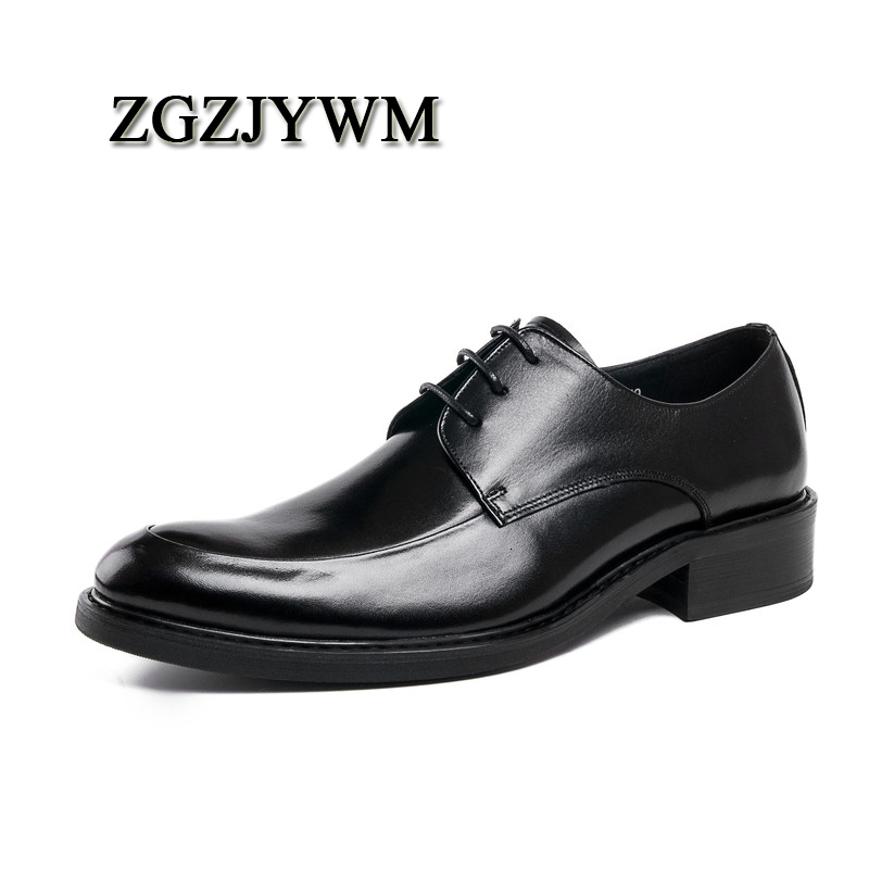 ZGZJYWM High Quality Black/Red Wine Breathable Genuine Leather Lace-Up Pointed Toe For Dress Oxfords Office Wedding ShoesZGZJYWM High Quality Black/Red Wine Breathable Genuine Leather Lace-Up Pointed Toe For Dress Oxfords Office Wedding Shoes