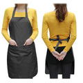 GSFY! Unisex 2 Pocket Black Kitchen Apron Bib, One Size in Medium