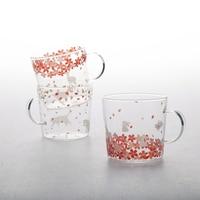 Beautiful Cherry glass cups Cute cat rabbit deer animal transparent glass