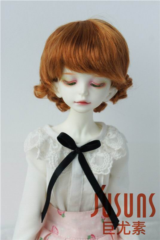 JD047 MSD doll wig  1/4 Classical Curly BJD Wigs for 7-8 doll size   Synthetic Mohair Doll wigs, 1 3 1 4 bjd wigs hot sell bjd sd short curly wig for diy dollfie mohair like