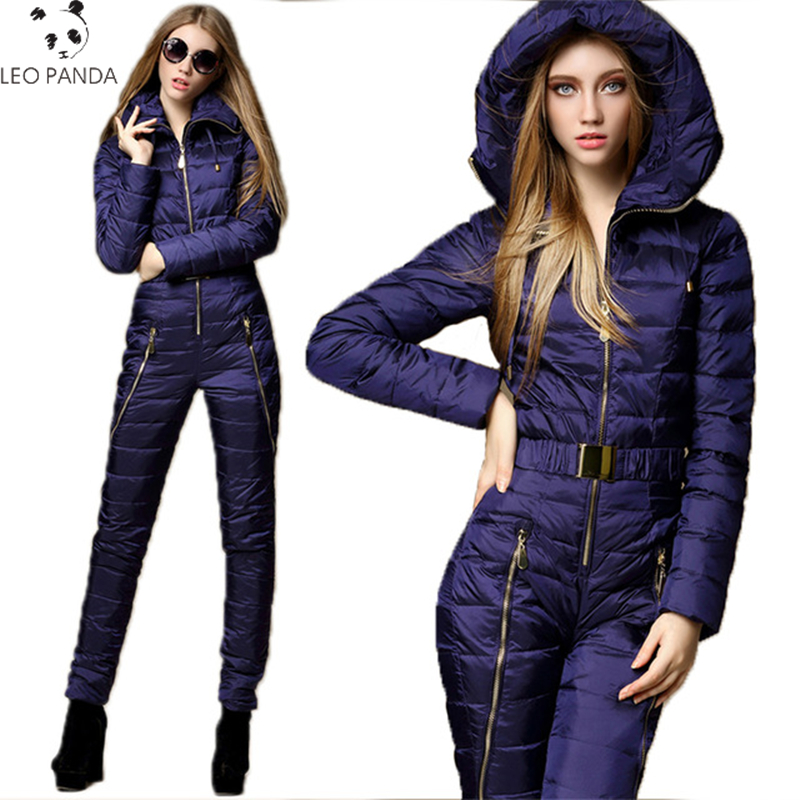 2019 Fashion Women Down Jacket Set Thicken Warm Winter Slim Ladies Jumpsuit Breathable Suit Bodysuits High Quality Female Suits Силиконы