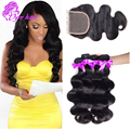 8A Brazilian Virgin Hair With Lace Closure Cheap Human Hair Weave Brazilian Body Wave With Closure 4 Bundles Aliexpress Coupon