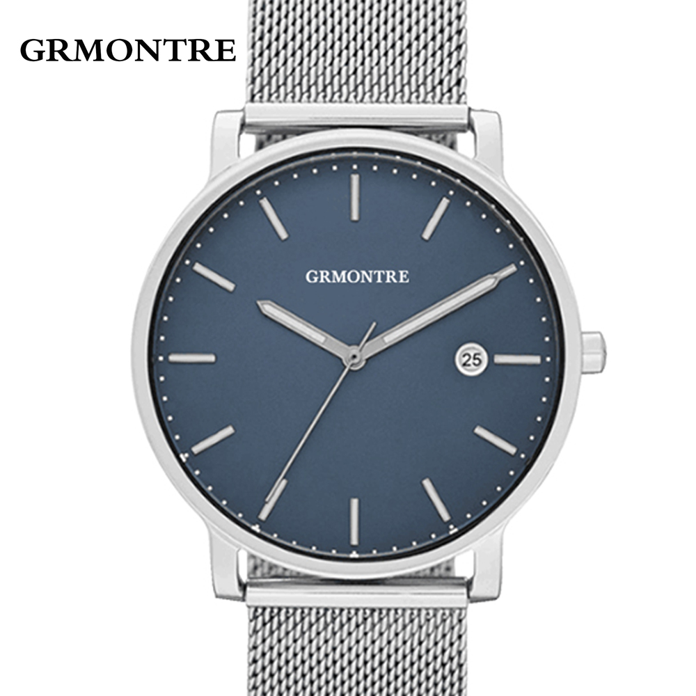 2017 New Top Luxury Watch Men Brand Men's Watches Ultra Thin Stainless Steel Mesh Band Quartz Wristwatch Fashion casual watches badace new top luxury watch men gold men s watches ultra thin stainless steel mesh band quartz wristwatch business casual watch