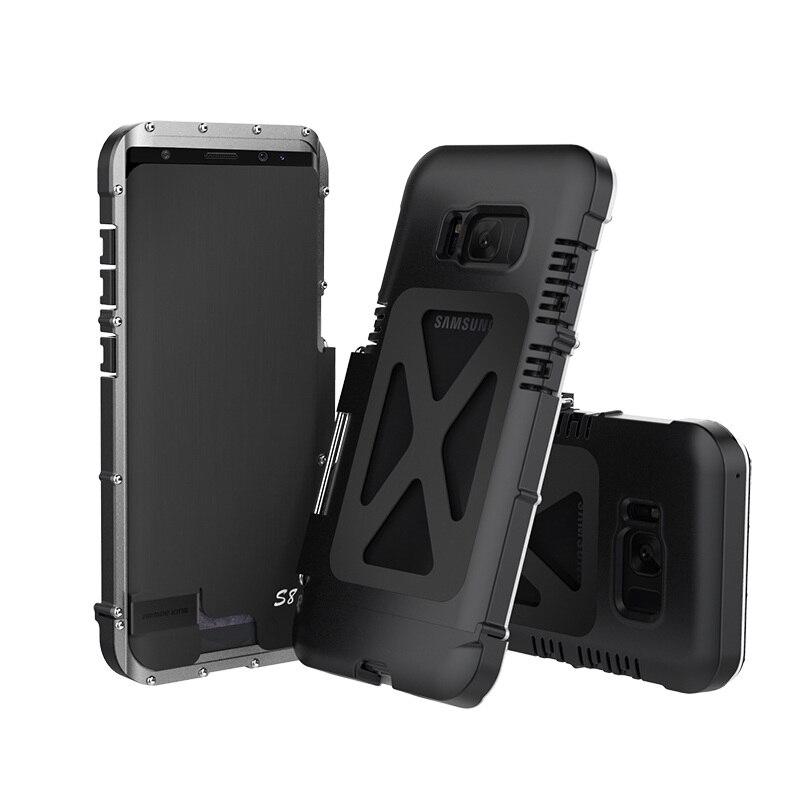 imágenes para Para Samsung Galaxy S8 Caso Del Tirón De Aluminio de servicio pesado A Prueba de Golpes Cubierta de la Caja de Metal Para Samsung S8 Más Caso Inoxidable de Acero