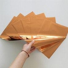 Myfoils Copper color hot stamping foil for toner reactive laminator by laser printer