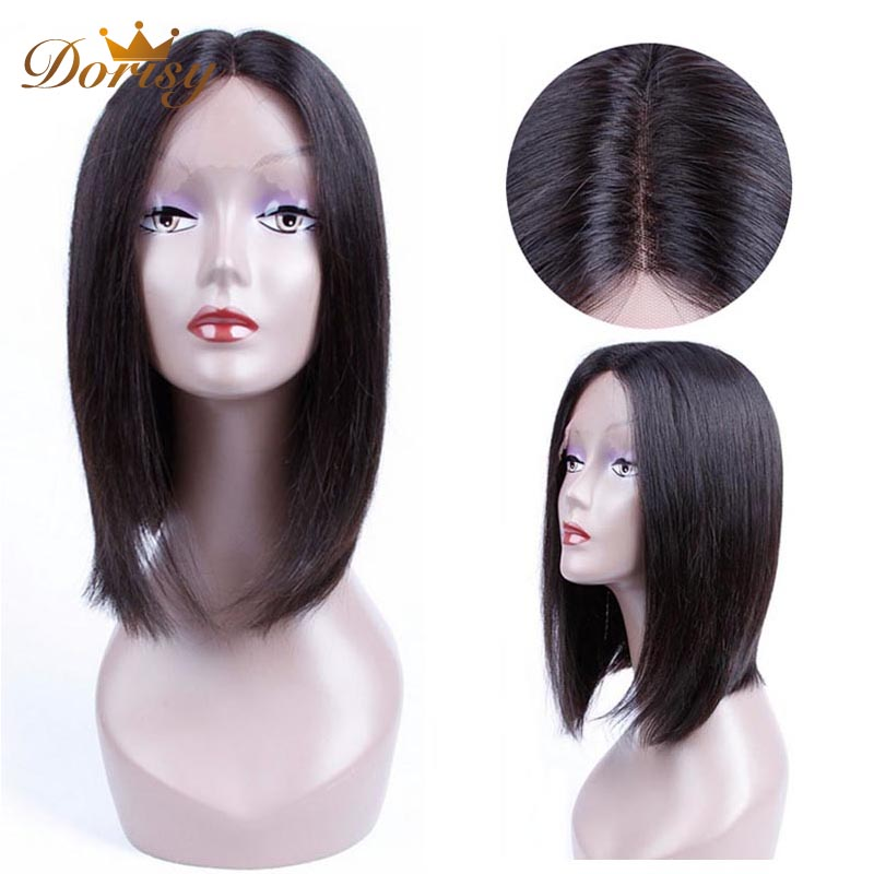 Lace Front Human Hair Wigs Short Human Hair Wigs For Black Women Natural Color Bob Lace Front wig Dorisy Non Remy Bob Wig