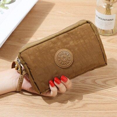 Женский кошелек, женский холщовый клатч, держатель для карт, Длинный кошелек, кошелек, высокое качество, вечерняя сумочка - Цвет: Хаки