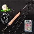 30 t Удочка из углеродистого волокна 2,4 m 2,58 метров леска wt 3/4 #4/5 #4 секция Летающая удочка рыболовные снасти комбинированный набор для ловли на...
