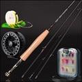 Varilla de carbono 30 t 2,4 m 2,58 metros línea wt 3/4 #4/5 #4 Sección caña de pescar mosca juego de aparejos de pesca